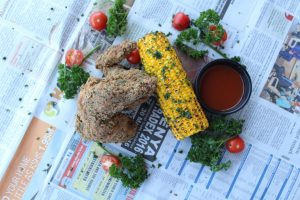 Southern Fried Chicken with Corn
